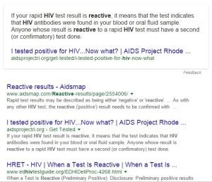 HIV Reactive
