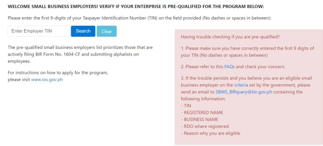 Check if prequalified