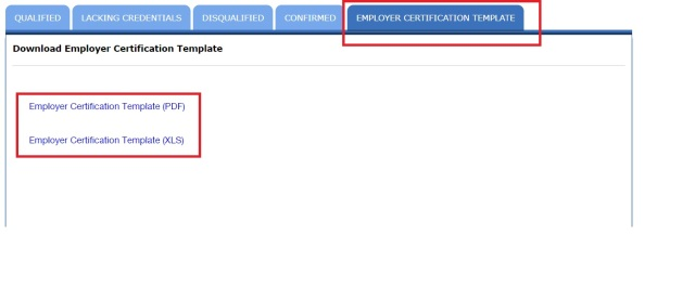 Employer Certification Templ