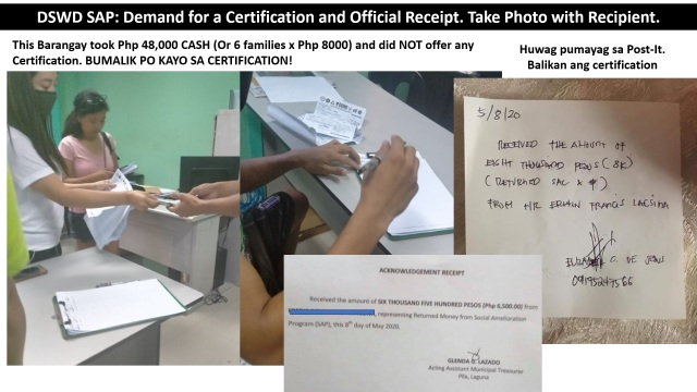23 - Demand for Certification and Official Receipt