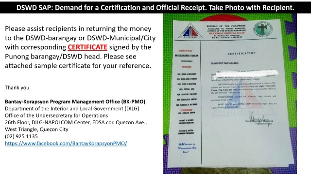 24 - Demand for Certification and Official Receipt B