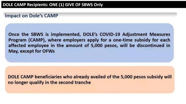 7 - DOLE Recipients, 1 Give Only