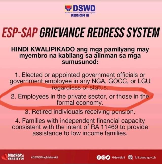 DSWD Reminder