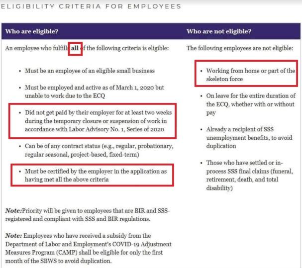 Employee Criteria