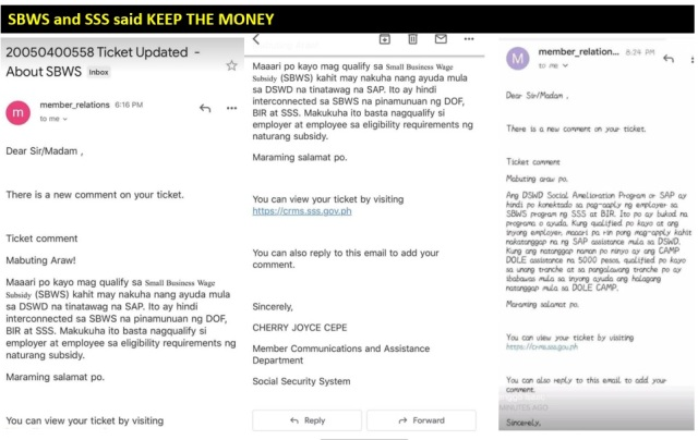 SBWS Keep the Money