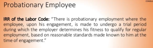 Probationary IRR