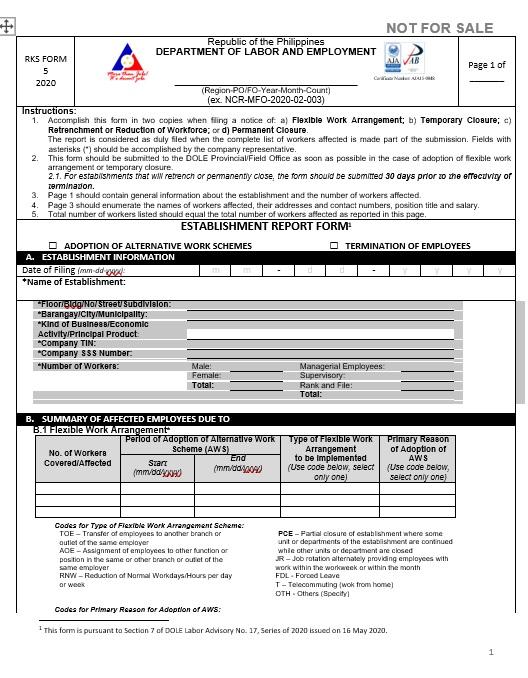 RKS Form 1