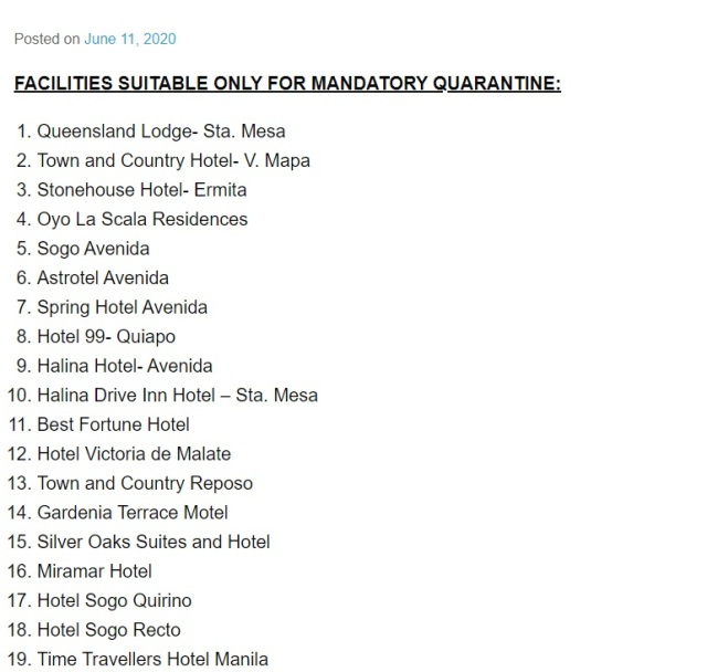 Quarantine Hotels