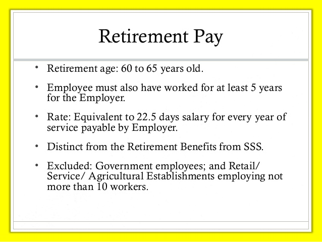 Retirement pay 3