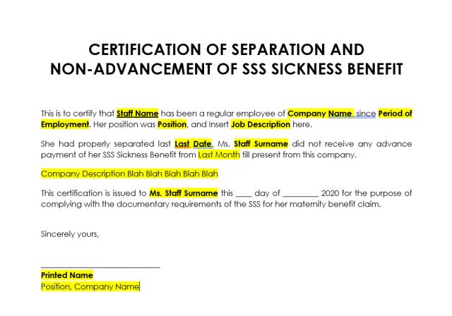 SSS Sickness